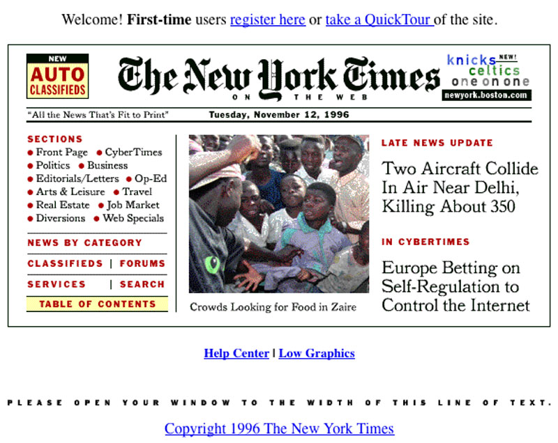new york times 1996