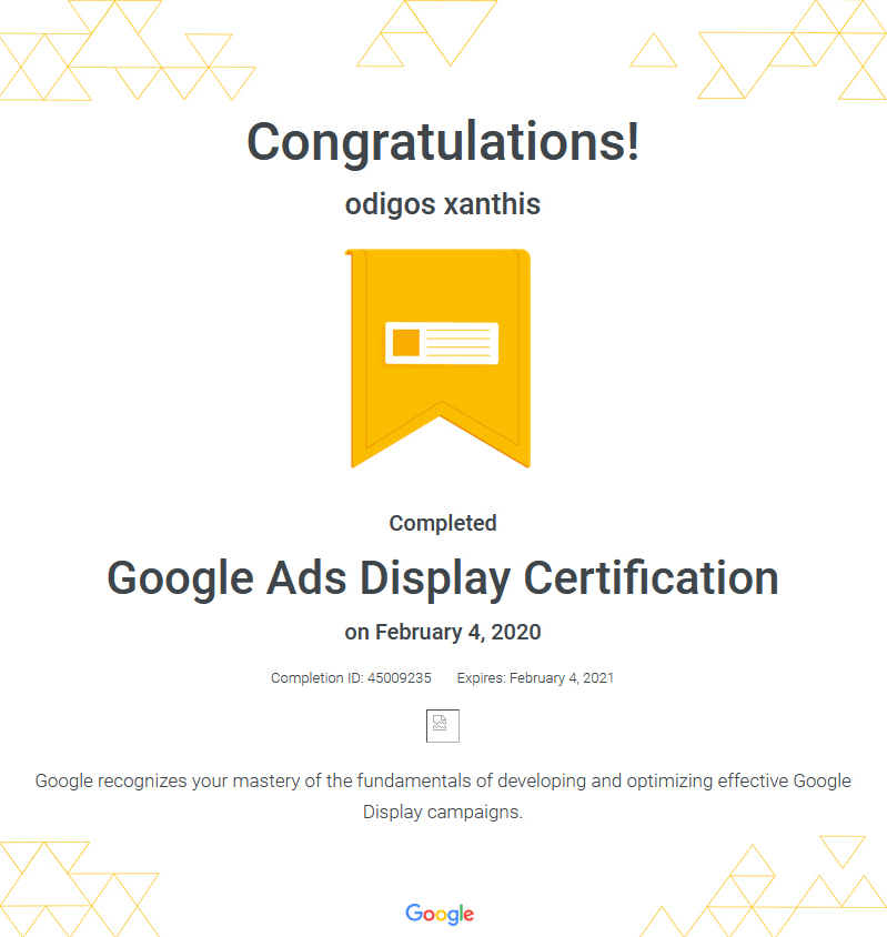 Certification Google Ads Display