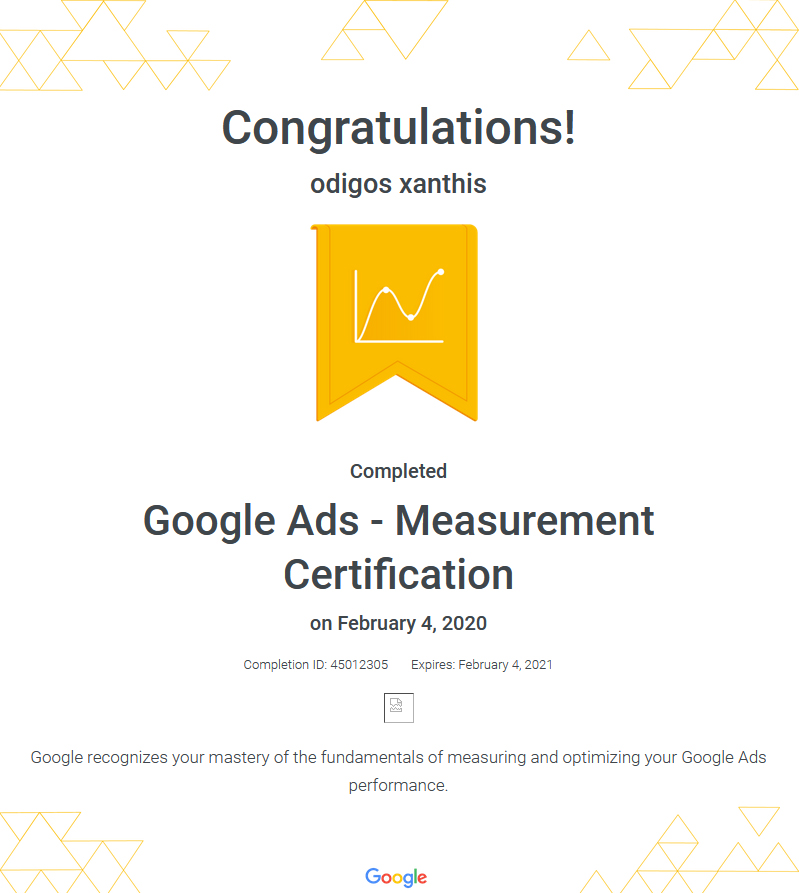Certification Google Ads Measurement