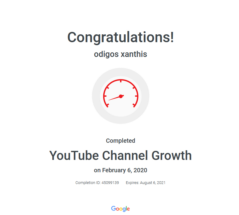 Certification YouTube Channel Growth